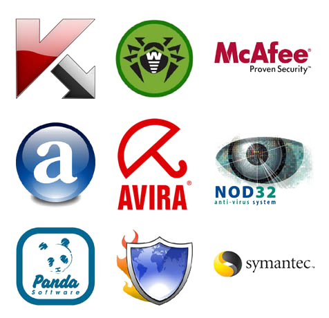 Популярные антивирусы